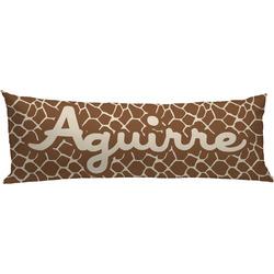 Giraffe Print Body Pillow Case (Personalized)