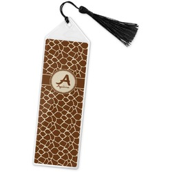 Giraffe Print Book Mark w/Tassel (Personalized)