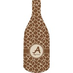 Giraffe Print Bottle Shaped Cutting Board (Personalized)