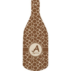 Giraffe Print Bottle Shaped Cutting Board (Personalized)
