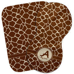 Giraffe Print Burp Cloth (Personalized)