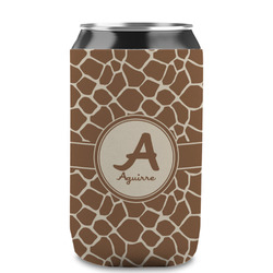 Giraffe Print Can Sleeve (12 oz) (Personalized)