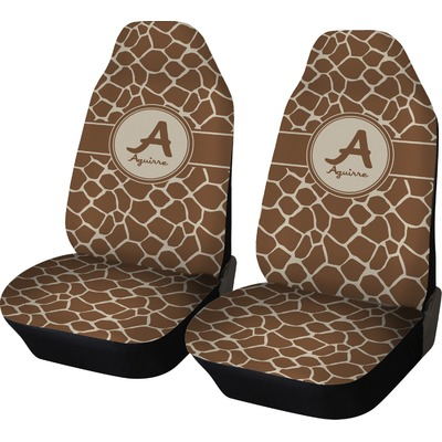Giraffe Print Car Seat Covers Set Of Two Personalized