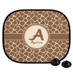 Giraffe Print Car Side Window Sun Shade (Personalized)