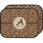 Giraffe Print Car Floor Mats (Back Seat) (Personalized)