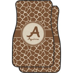 Giraffe Print Car Floor Mats (Front Seat) (Personalized)