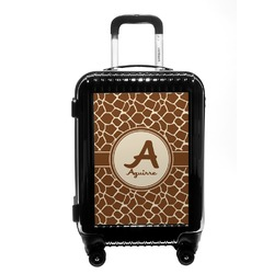 Giraffe Print Carry On Hard Shell Suitcase (Personalized)
