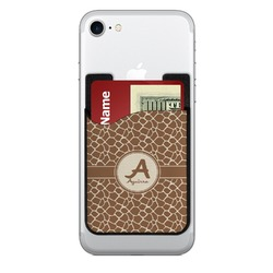 Giraffe Print 2-in-1 Cell Phone Credit Card Holder & Screen Cleaner (Personalized)