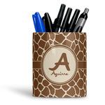 Giraffe Print Ceramic Pen Holder