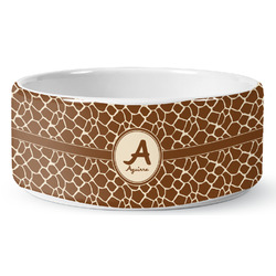Giraffe Print Ceramic Pet Bowl (Personalized)