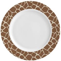 Giraffe Print Ceramic Dinner Plates (Set of 4) (Personalized)