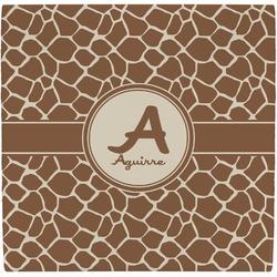 Giraffe Print Ceramic Tile Hot Pad (Personalized)