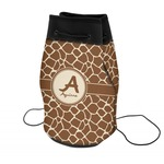 Giraffe Print Neoprene Drawstring Backpack (Personalized)