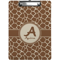 Giraffe Print Clipboard (Personalized)