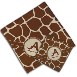 Giraffe Print Cloth Napkin w/ Name and Initial