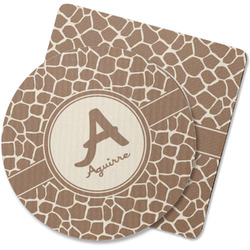 Giraffe Print Rubber Backed Coaster (Personalized)