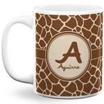 Giraffe Print 11 Oz Coffee Mug - White (Personalized)