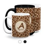 Giraffe Print Coffee Mugs (Personalized)