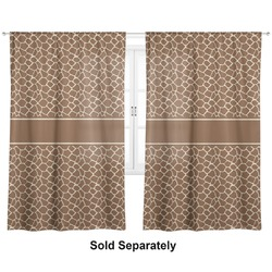 "Giraffe Print Curtains - 20""x63"" Panels - Lined (2 Panels Per Set) (Personalized)"