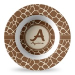 Giraffe Print Plastic Bowl - Microwave Safe - Composite Polymer (Personalized)