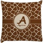 Giraffe Print Decorative Pillow Case (Personalized)