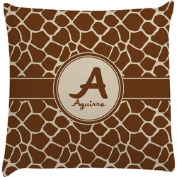 Giraffe Print Decorative Pillow Case (Personalized)