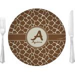 Giraffe Print Glass Lunch / Dinner Plates 10