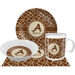 Giraffe Print Dinner Set - 4 Pc (Personalized)