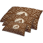 Giraffe Print Dog Bed w/ Name and Initial