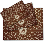 Giraffe Print Dog Food Mat w/ Name and Initial