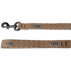 Giraffe Print Deluxe Dog Leash (Personalized)