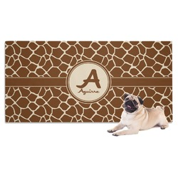 Giraffe Print Pet Towel (Personalized)