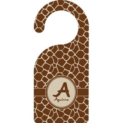Giraffe Print Door Hanger (Personalized)