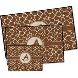 Giraffe Print Door Mat (Personalized)