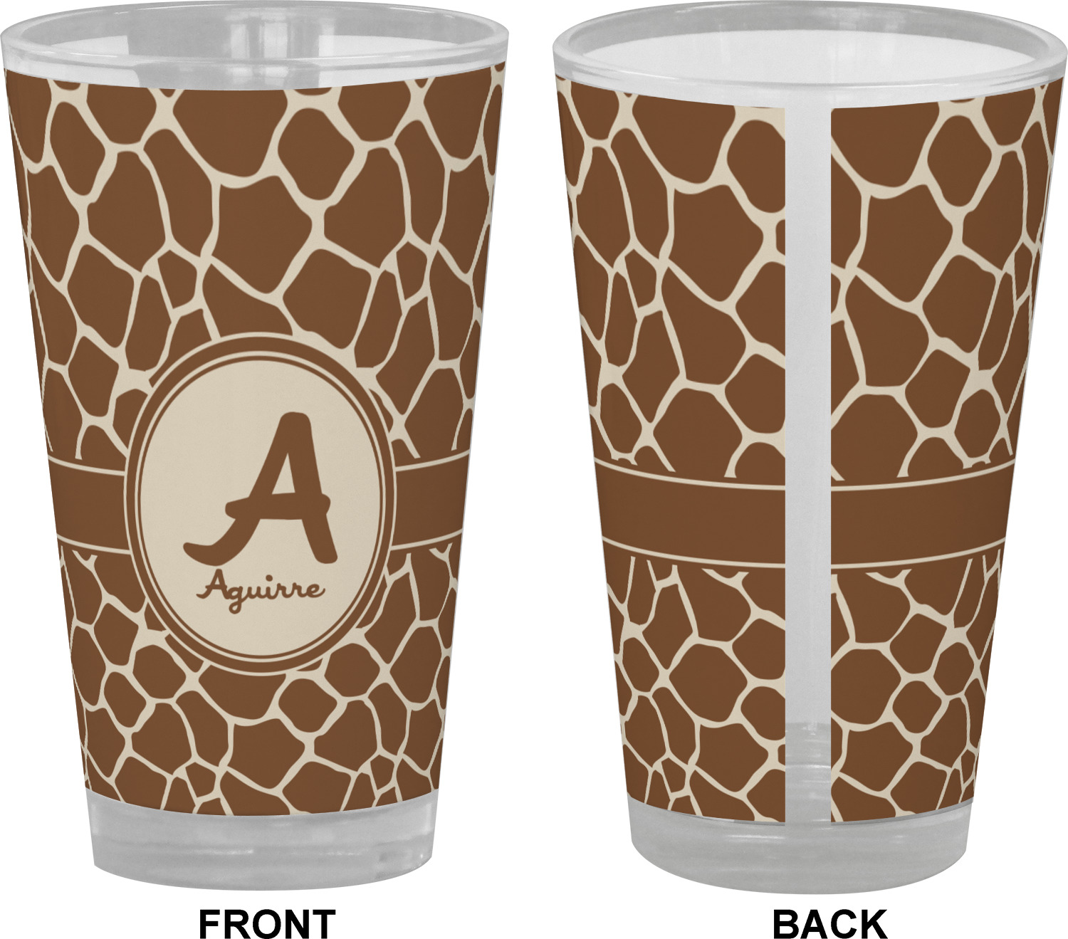 Girffe Themes Drinking Glasses