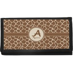 Giraffe Print Canvas Checkbook Cover (Personalized)