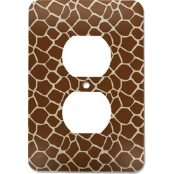 Giraffe Print Electric Outlet Plate (Personalized)