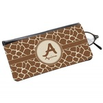 Giraffe Print Genuine Leather Eyeglass Case (Personalized)