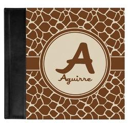 Giraffe Print Genuine Leather Baby Memory Book (Personalized)