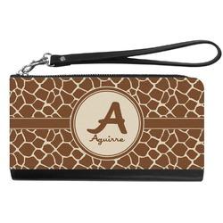 Giraffe Print Genuine Leather Smartphone Wrist Wallet (Personalized)