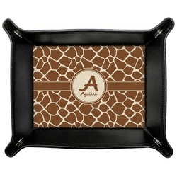 Giraffe Print Genuine Leather Valet Tray (Personalized)