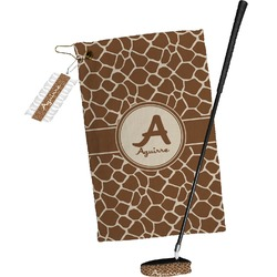 Giraffe Print Golf Towel Gift Set (Personalized)
