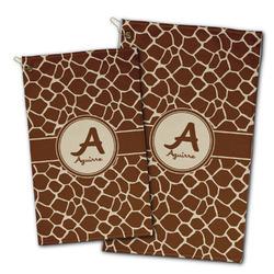 Giraffe Print Golf Towel - Full Print w/ Name and Initial