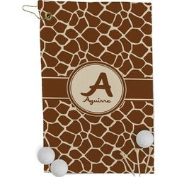 Giraffe Print Golf Towel - Full Print (Personalized)
