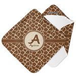 Giraffe Print Hooded Baby Towel (Personalized)