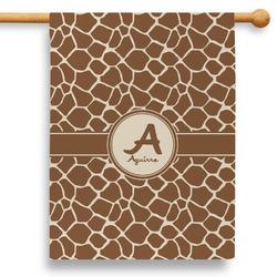 "Giraffe Print 28"" House Flag (Personalized)"