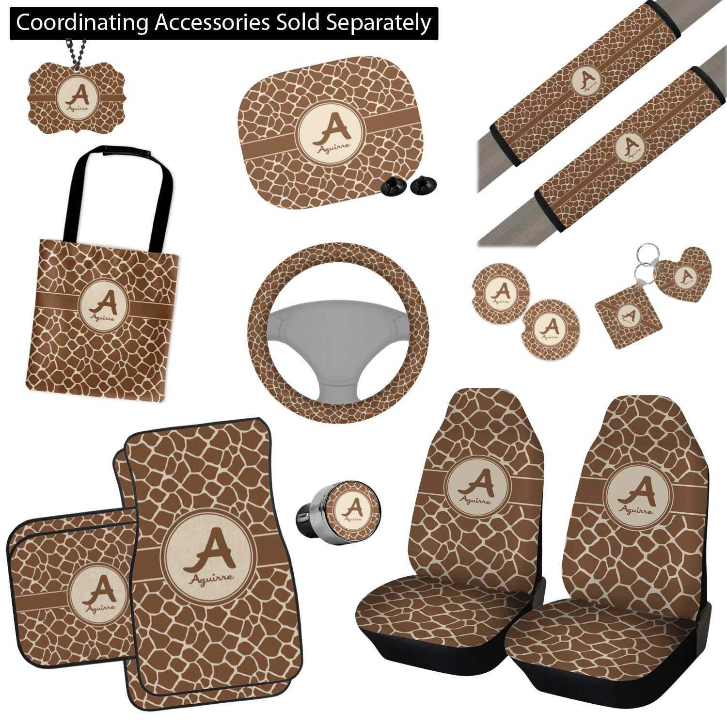 Surprising Giraffe Print Car Seat Covers Set Of Two Personalized Alphanode Cool Chair Designs And Ideas Alphanodeonline