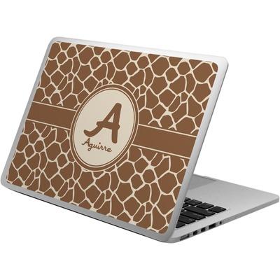 Giraffe Print Laptop Skin - Custom Sized (Personalized)