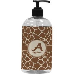 Giraffe Print Plastic Soap / Lotion Dispenser (Personalized)