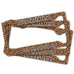 Giraffe Print License Plate Frame (Personalized)